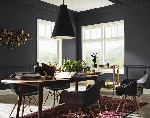 Matte black paint makes a softer statement!