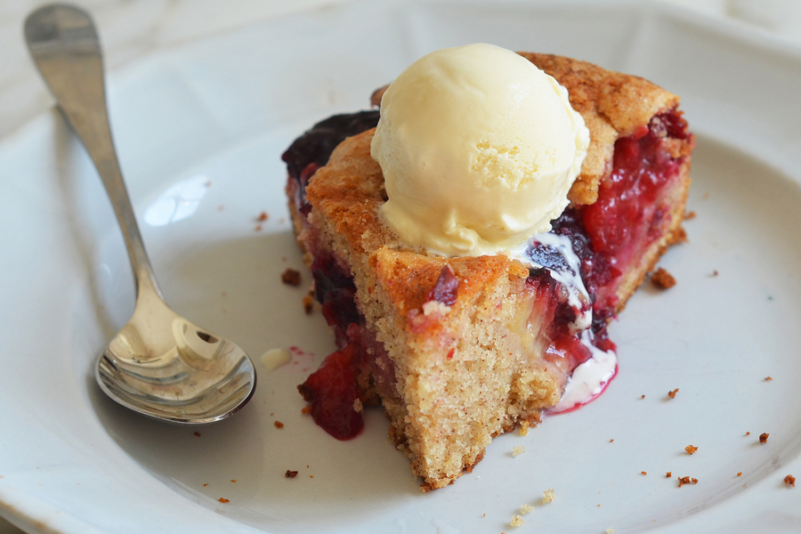 End of Summer Plum Cake